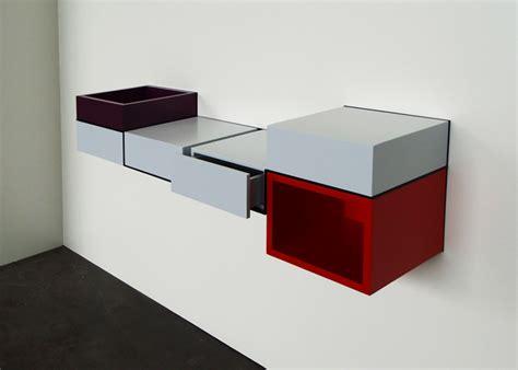 bureau coloré mural console desk pas pied furnitures les pieds