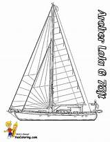 Coloring Pages Boat Sailing Yacht Catamaran Ship Printable Template Yescoloring Sailboat Superb Yatch Boats sketch template