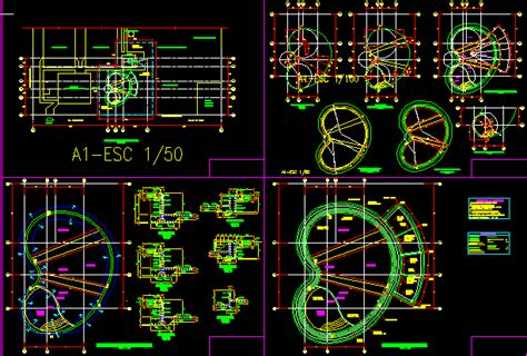 kidney pool project dwg full project  autocad