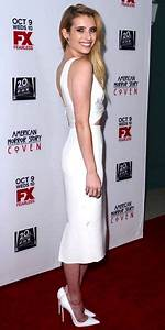 Emma Roberts stuns in white cut-out dress at American ...
