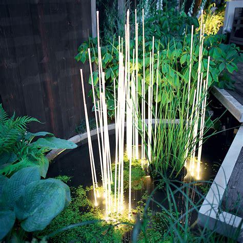 reeds outdoor fountain lighting inspiration materials