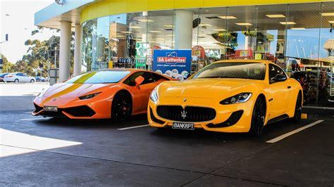 Maserati Vs Lamborghini by Lamborghini Huracan Maserati Granturismo Start Up