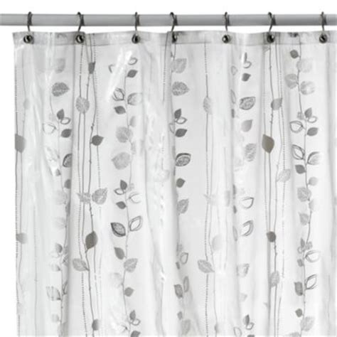silver shower curtain buy metallic silver shower curtains from bed bath beyond