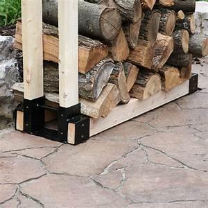 Sunnydaze, Outdoor, And, Indoor, Firewood, Log, Rack, Bracket, Kit