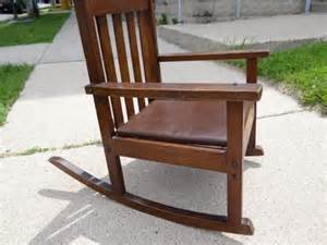 vtg antique childs rocker rocking chair stickley era