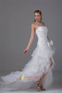 Size Chart White Strapless Ruffle Layered Organza Side Split Prom