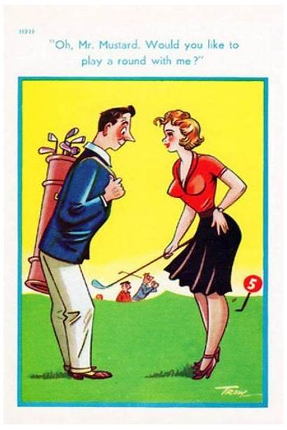 Postcards Funny Golf Cards Comic Saucy Humor