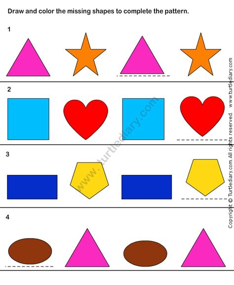 pattern match worksheet math worksheets kindergarten