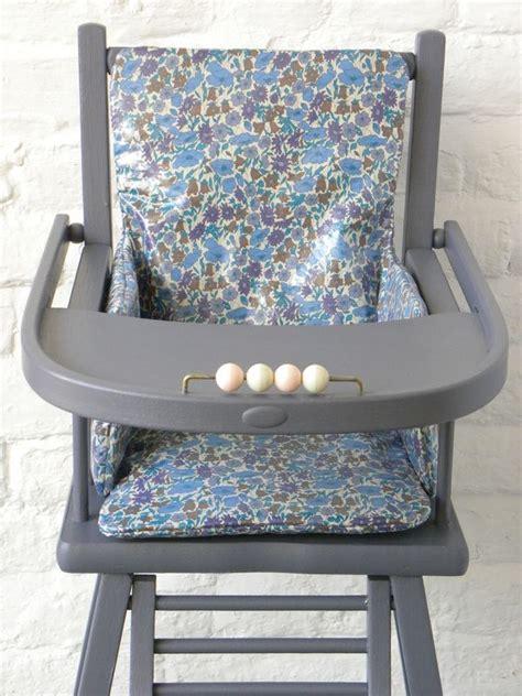 coussin de chaise haute combelle demeure des anges coussin de chaise haute en liberty