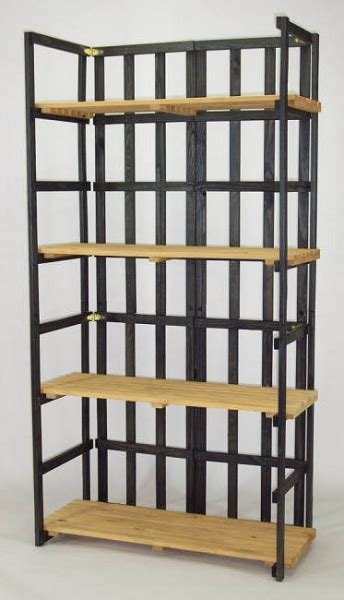 folding shelf unit display folding wooden shelves
