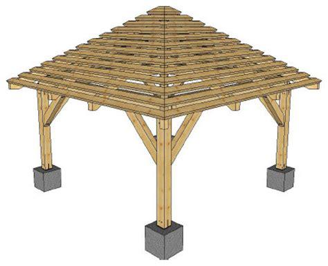 Hip Roof Pergola by Pergolas Hip Roof Pergola Rustic Ta By