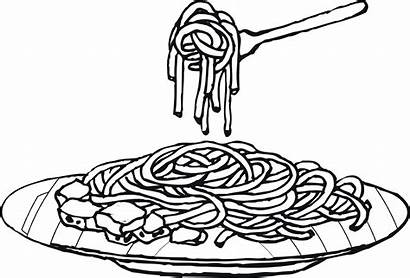 Spaghetti Coloring Pasta Pages Clipart Drawing Colouring