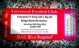 liverpool footbal fan39s big surprise birthday invitation With handmade wedding invitations liverpool