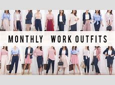 Monthly Work Outfit Options Style Mix + Match Ideas