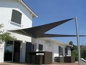Toile Pour Terrasse : toile protection solaire terrasse toile solaire toile d ~ Premium-room.com Idées de Décoration