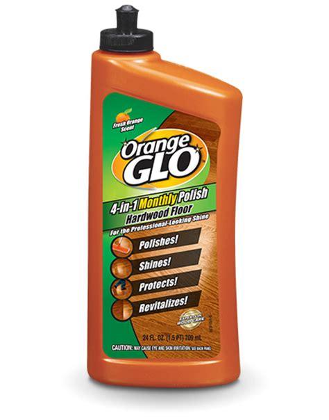 orange glo hardwood floor 4 in 1 monthly polish