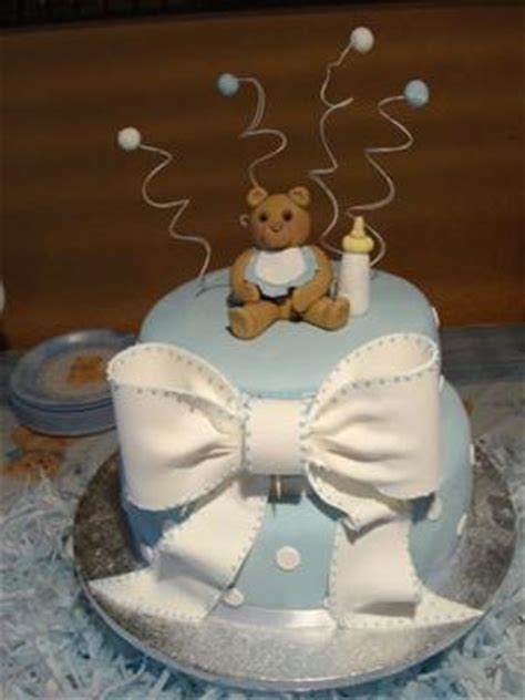 diy teddy bear cakes   baby shower cutestbabyshowerscom