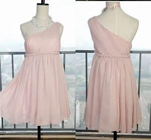 Simple Blush 2016 One Shoulder Bridesmaid Dresses Cheap ...