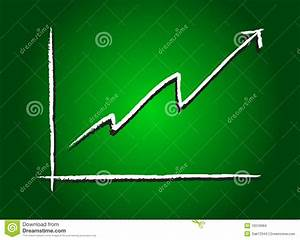 Stock Market Increase Green Stock Vector