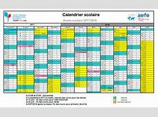Calendrier scolaire 2017 2019 2018 Calendar Printable