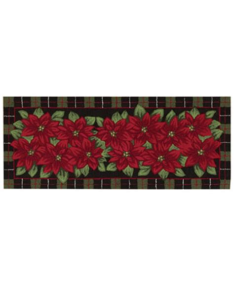 Macys Headboards Only by Nourison Rugs Holiday Poinsettia 22 Quot X 54 Quot Runner Bath