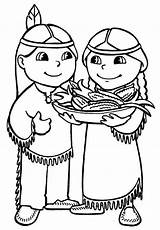 Coloring Native Pages American Preschoolers Indians Popular sketch template