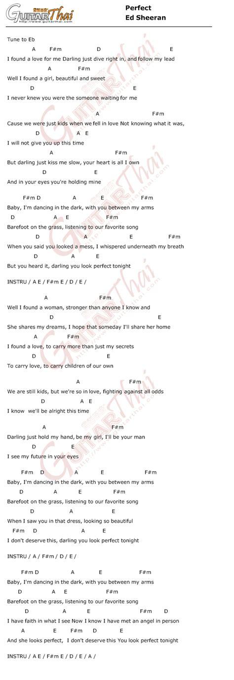 Ed Sheeran Perfect Chord Mungfali