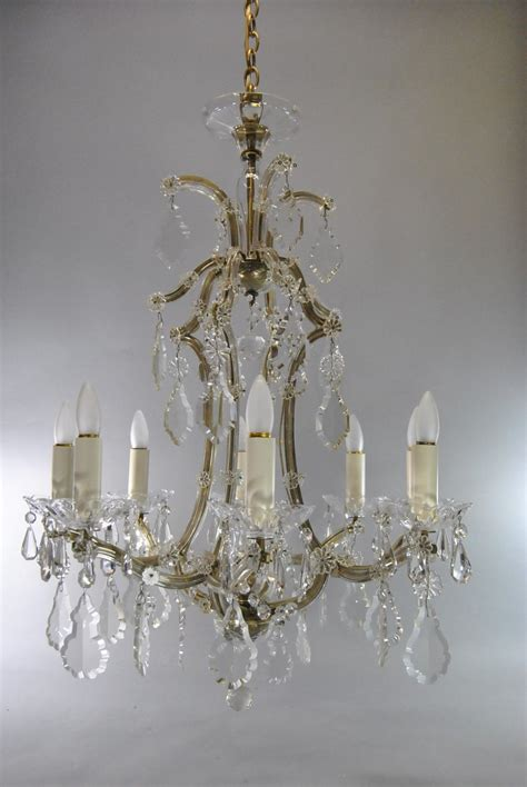 Chandelier Stunning French Crystal Chandelier Antique