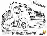 Coloring Kenworth Freightliner Cabover Coronado Camiones Mack Distinta sketch template