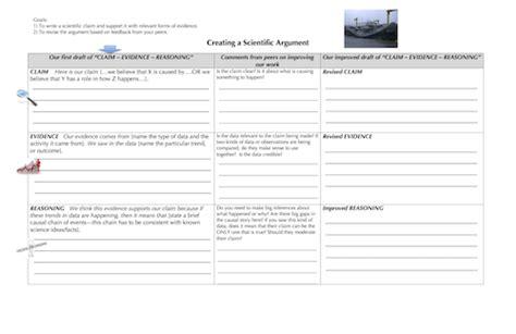 claim evidence reasoning template claim evidence reasoning template for high school ast