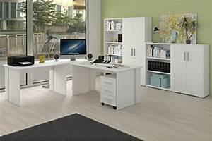 Büro Set Möbel : komplettes arbeitszimmer b ro m bel set in weiss m bel24 ~ Indierocktalk.com Haus und Dekorationen