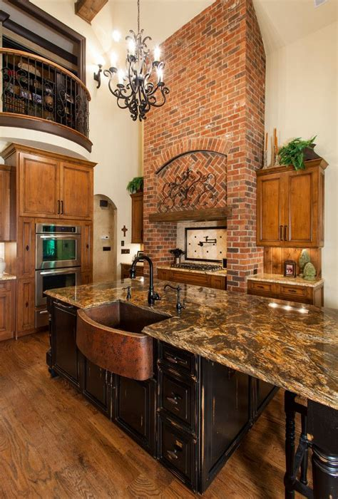 copper kitchen sinks kitchen traditional  black island