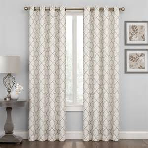 40 off regent court embroidered lattice curtain grey