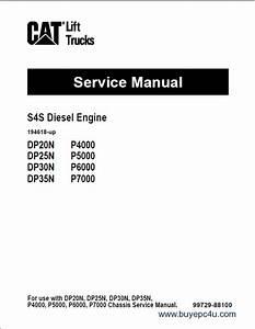 Caterpillar S4s Diesel Engine D20n Dp25n Dp30n Dp35n
