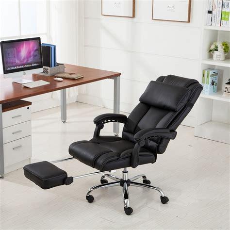 recliner office chair belleze executive reclining office chair high back pu
