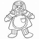 Rag Coloring Doll Colouring Pages Ragdoll Hokeypokey Getcolorings Hokey Pokey Getdrawings Printable sketch template