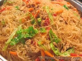 Pancit Filipino Food Recipes
