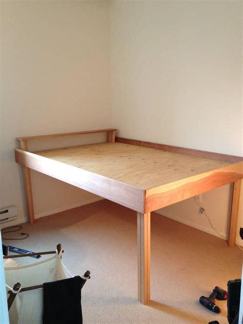 raised bed  style   diy bed frame loft bed