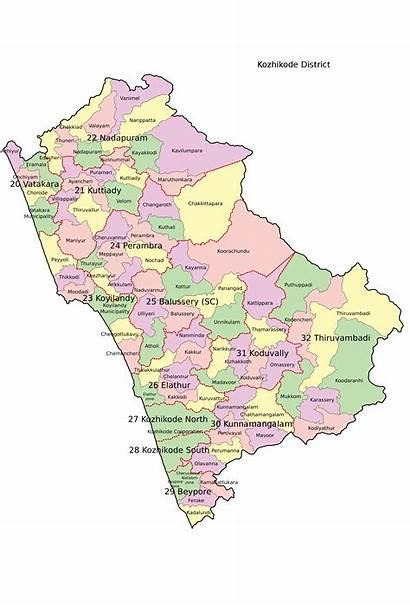 Kozhikode District Map Svg Commons Assembly Legislative