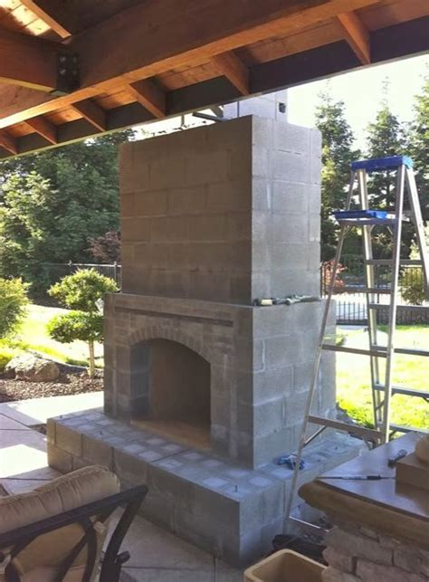 building  outdoor fireplace  images outdoor