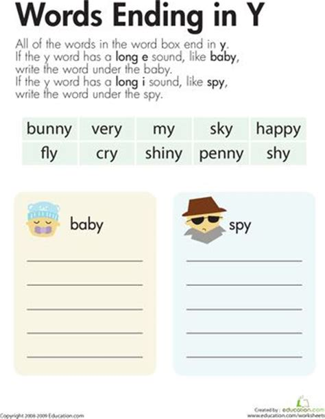vowel sounds y as kid reading and 2nd grade