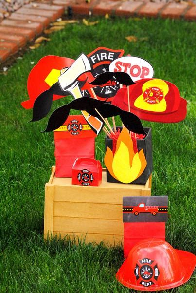fireman birthday fire fighter photo booth props