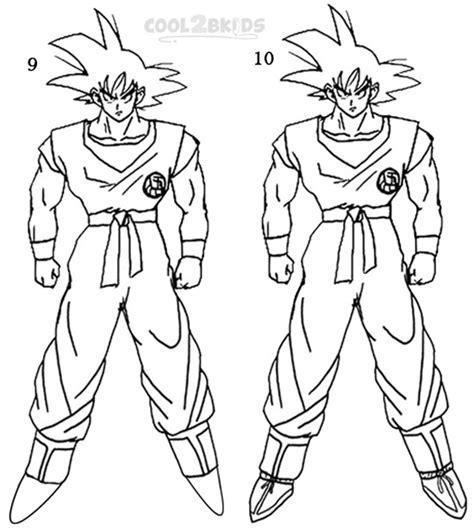 draw goku step  step pictures coolbkids