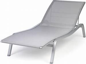 Chaise Longue Aluminium : chaise longue de jardin aluminium ~ Teatrodelosmanantiales.com Idées de Décoration