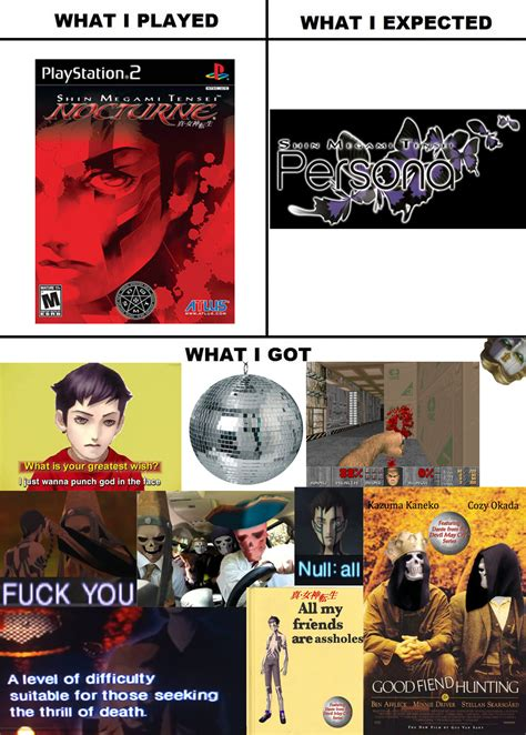 Shin Megami Tensei Memes - shin megami tensei nocturne what i watched what i expected what i got know your meme