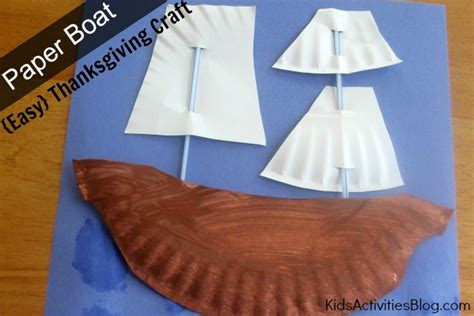 paper boat easy thanksgiving craft