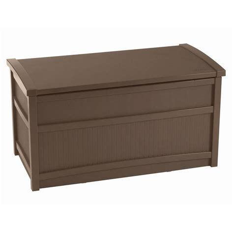 suncast deck boxes canada suncast deck box 6 68 cu ft the home depot canada