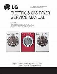 Lg Dlex7177wm Dlex8377wm Dlex7177rm Dlex8377nm Dryer