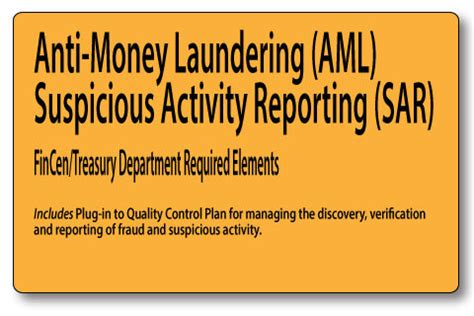 Anti Money Laundering Sar Reporting Mortgage Policies Anti Money Laundering Sar Reporting Mortgage Policies