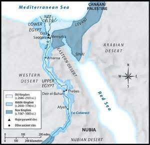 Map of Ancient Egypt and Nile River